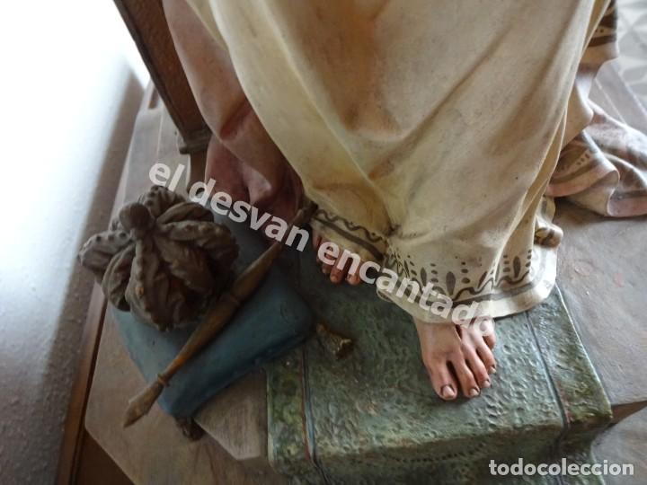 Arte: ENTRONIZACION SAGRADO CORAZON. Escultura estuco policromado. Ppios. S. XX. Escuela Olot?? - Foto 12 - 171338428