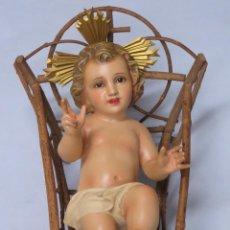 Arte: PRECIOS NIÑO JESUS. OLOT?. OJOS DE CRISTAL. Lote 171397877