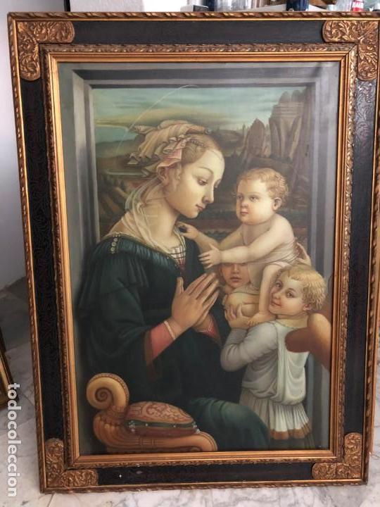 EXTRAORDINARIA VIRGEN MARIA DE F. FILIPO LIPPI (Arte - Arte Religioso - Pintura Religiosa - Oleo)