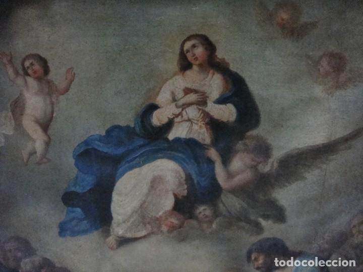 Arte: Óleo sobre lienzo. S.XIX. Pintura religiosa. Asunción de la Virgen. - Foto 3 - 171442574