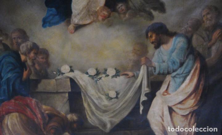 Arte: Óleo sobre lienzo. S.XIX. Pintura religiosa. Asunción de la Virgen. - Foto 5 - 171442574