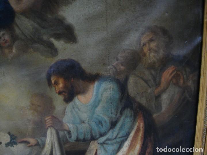 Arte: Óleo sobre lienzo. S.XIX. Pintura religiosa. Asunción de la Virgen. - Foto 6 - 171442574