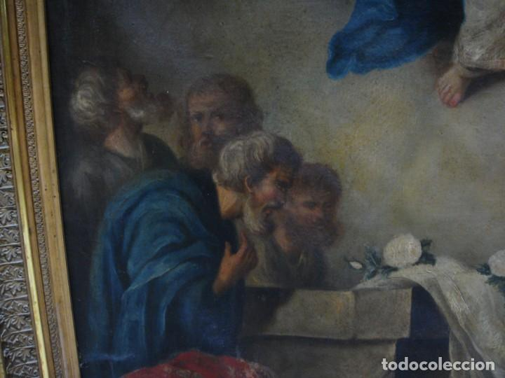 Arte: Óleo sobre lienzo. S.XIX. Pintura religiosa. Asunción de la Virgen. - Foto 7 - 171442574