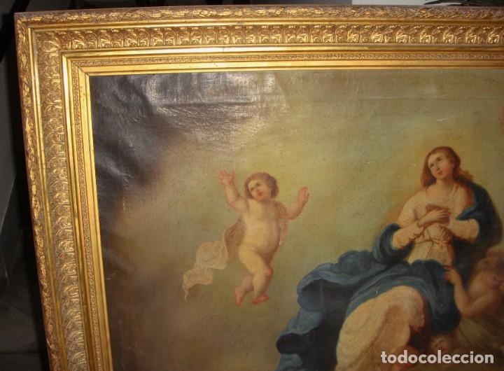 Arte: Óleo sobre lienzo. S.XIX. Pintura religiosa. Asunción de la Virgen. - Foto 13 - 171442574
