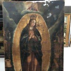 Arte: EXCEPCIONAL VIRGEN MARIA, TOTA PULCHRA, S. XVI, EN PROCESO DE RESTAURACION . Lote 171445508