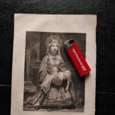 Arte: 1856 SANTA CLOTILDE 25 X 18 CM GRABADO ORIGINAL AL COBRE - F.BARRIAS PINXT. VALLOT SE.. Lote 171518264