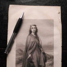 Arte: 1856 SANTA CATALINA 25 X 18 CM GRABADO ORIGINAL AL COBRE - C. LANDELLE PINXT. / A.REVEL SC.. Lote 171519902