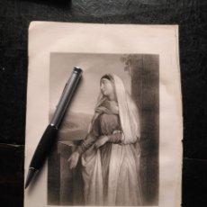 Arte: 1856 SANTA ISABEL ELISABETH 25 X 18 CM GRABADO ORIGINAL AL COBRE - G.STAAL. / W. H. EGLETON.. Lote 171520243