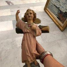 Arte: NIÑO JESUS CON SAGRADO CORAZON, OLOT ANTIGUO, 42 CMS DE ALTO. Lote 218661890