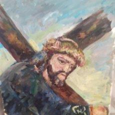 Arte: CRISTO CON LA CRUZ ORIGINAL. Lote 171677470