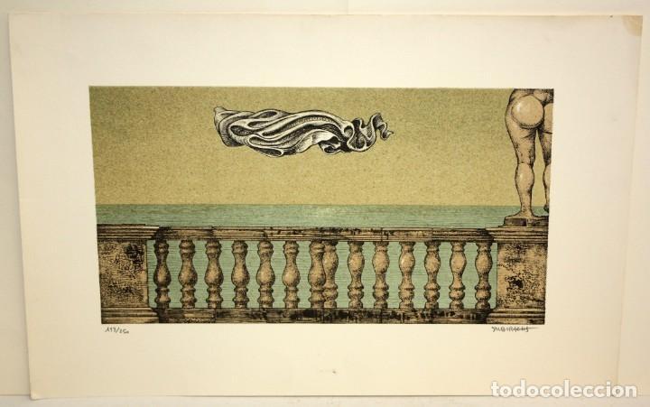 SUBIRACHS -LITOGRAFIA - TITULADA TRAVERTINO - 113/250. (Arte - Arte Religioso - Litografías)