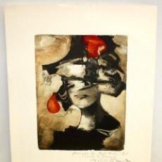 Arte: MODEST CUIXART - LITOGRAFIA - DEDICADA AL CONCELLER DE GOVERNACIO - MACIA ALAVEDRA.. Lote 171997945