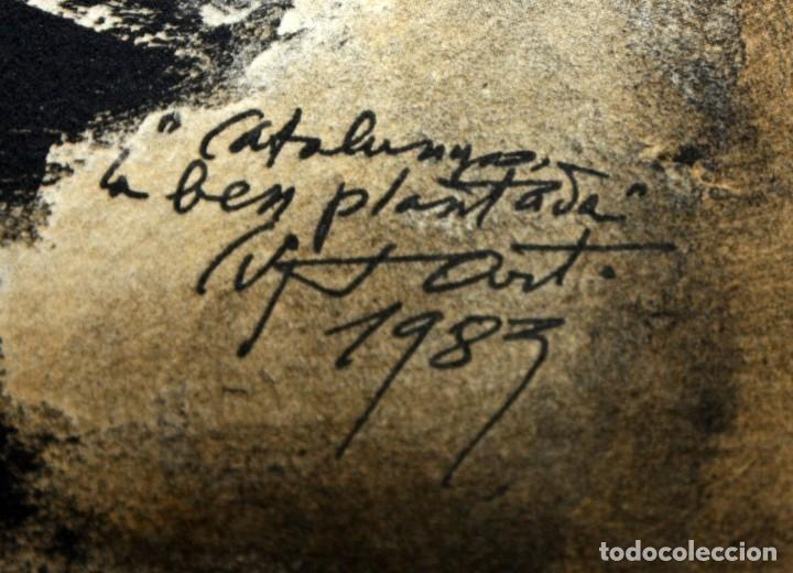 Arte: MODEST CUIXART - LITOGRAFIA - DEDICADA AL CONCELLER DE GOVERNACIO - MACIA ALAVEDRA. - Foto 2 - 171997945