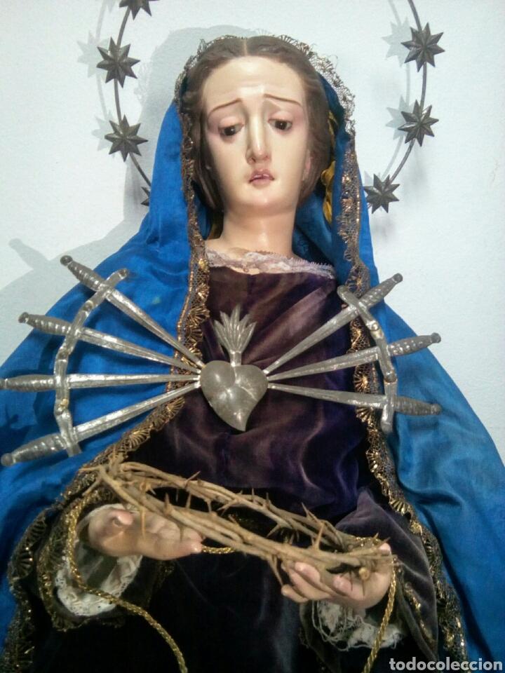 Arte: Virgen dolorosa Cap i Pota o Vestidera del siglo XIX. - Foto 2 - 172033099