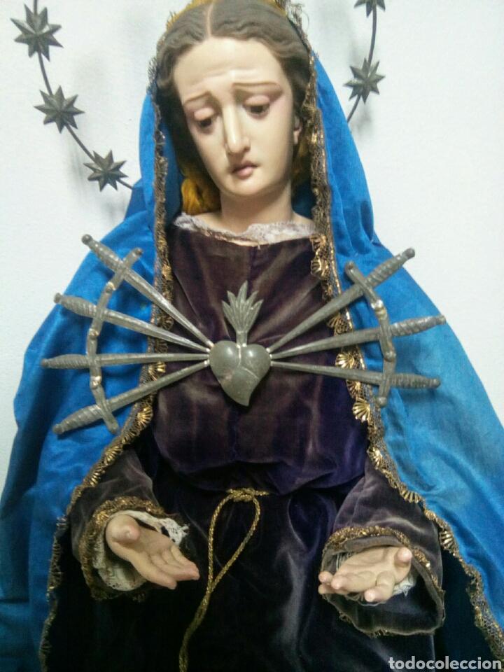 Arte: Virgen dolorosa Cap i Pota o Vestidera del siglo XIX. - Foto 4 - 172033099