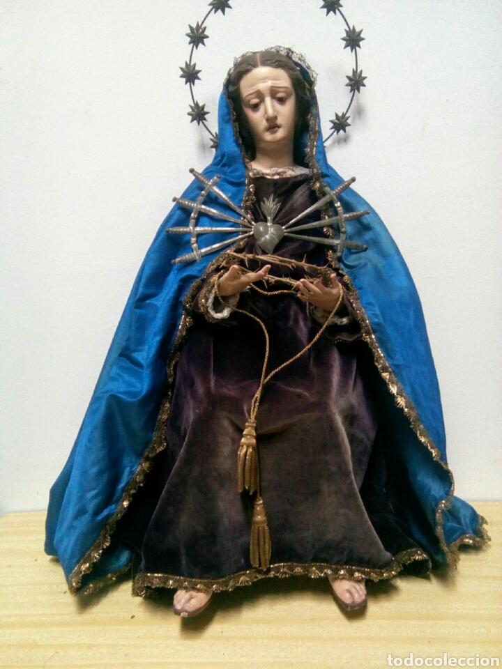 Arte: Virgen dolorosa Cap i Pota o Vestidera del siglo XIX. - Foto 9 - 172033099