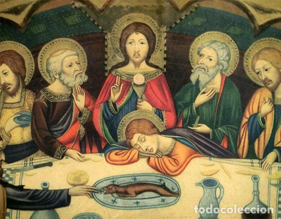 LA ÚLTIMA CENA - ANTIGUA LITOGRAFÍA RELIGIOSA - JAIME SERRA - MARTÍ Y MARI - BARCELONA (Arte - Arte Religioso - Litografías)