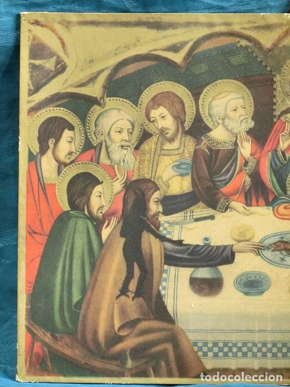 Arte: LA ÚLTIMA CENA - ANTIGUA LITOGRAFÍA RELIGIOSA - JAIME SERRA - MARTÍ Y MARI - BARCELONA - Foto 2 - 172046968
