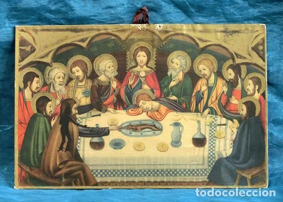 Arte: LA ÚLTIMA CENA - ANTIGUA LITOGRAFÍA RELIGIOSA - JAIME SERRA - MARTÍ Y MARI - BARCELONA - Foto 3 - 172046968