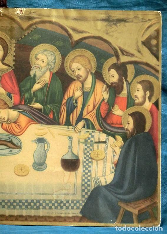 Arte: LA ÚLTIMA CENA - ANTIGUA LITOGRAFÍA RELIGIOSA - JAIME SERRA - MARTÍ Y MARI - BARCELONA - Foto 4 - 172046968