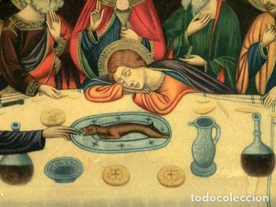 Arte: LA ÚLTIMA CENA - ANTIGUA LITOGRAFÍA RELIGIOSA - JAIME SERRA - MARTÍ Y MARI - BARCELONA - Foto 6 - 172046968