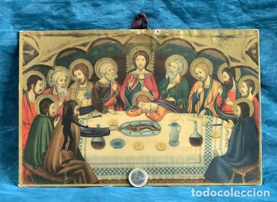 Arte: LA ÚLTIMA CENA - ANTIGUA LITOGRAFÍA RELIGIOSA - JAIME SERRA - MARTÍ Y MARI - BARCELONA - Foto 13 - 172046968