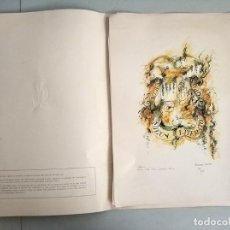 Arte: CARPETA CON 6 LITOGRAFIAS FALLA SUECA LITERATO AZORIN DE ARMANDO SERRA NUMERADAS Y FIRMADAS. Lote 172073990
