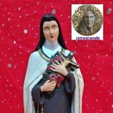 Arte: ESCULTURA *IMAGINERIA RELIGIOSA - SANTA TERESA DE JESUS* - ESCAYOLA 42 CM - OLOT.. Lote 172155358