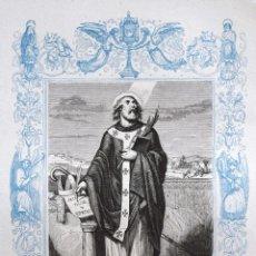 Arte: SAN ISIDORO, OBISPO Y MARTIR - GRABADO DÉCADAS 1850-1860 - BUEN ESTADO. Lote 172167478