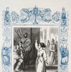 Arte: SANTA BALBINA, VIRGEN Y MARTIR - GRABADO DÉCADAS 1850-1860 - BUEN ESTADO. Lote 172167992