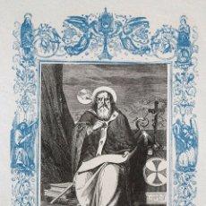 Arte: SAN BRAULIO, OBISPO - GRABADO DÉCADAS 1850-1860 - BUEN ESTADO. Lote 172168249