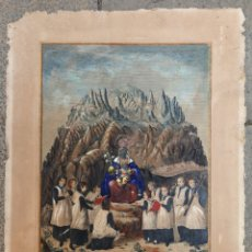 Arte: MONTSERRAT, GRABADO ILUMINADO 1859. MARCO: 65X79 CM.. Lote 30207563