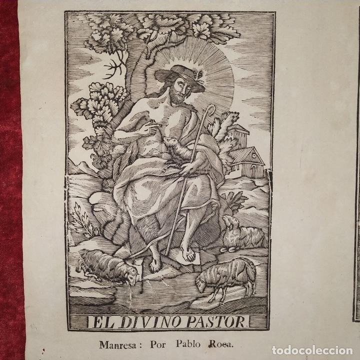 Arte: EL DIVINO PASTOR. SANTA ELENA. GRABADOS. PABLO ROCA. MANRESA. PRINCIPIO XIX - Foto 3 - 172231947