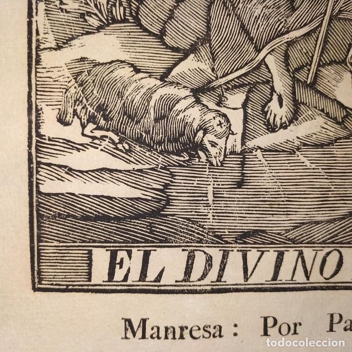 Arte: EL DIVINO PASTOR. SANTA ELENA. GRABADOS. PABLO ROCA. MANRESA. PRINCIPIO XIX - Foto 9 - 172231947
