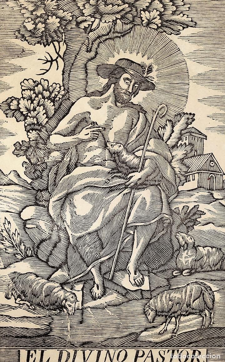 EL DIVINO PASTOR. SANTA ELENA. GRABADOS. PABLO ROCA. MANRESA. PRINCIPIO XIX (Arte - Arte Religioso - Grabados)