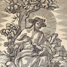 Arte: EL DIVINO PASTOR. SANTA ELENA. GRABADOS. PABLO ROCA. MANRESA. PRINCIPIO XIX. Lote 172231947