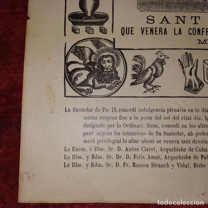 Arte: SANT SALVADOR. GRABADO SOBRE PAPEL. IMP. ROCA. MANRESA. ESPAÑA. XIX - Foto 6 - 172233813