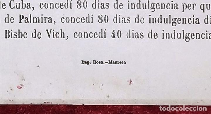 Arte: SANT SALVADOR. GRABADO SOBRE PAPEL. IMP. ROCA. MANRESA. ESPAÑA. XIX - Foto 7 - 172233813