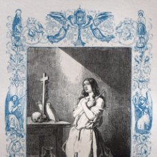 Arte: SANTA MARÍA DE CORTONA - GRABADO DÉCADAS 1850-1860 - BUEN ESTADO. Lote 172248643