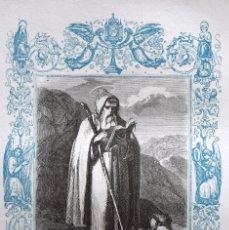 Arte: SAN ANTONIO, ABAD - GRABADO DÉCADAS 1850-1860 - BUEN ESTADO. Lote 172248699