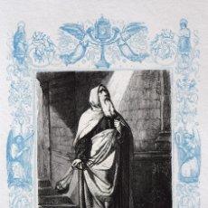 Arte: SAN TEODOSIO CENOBIARCA, CONFESOR - GRABADO DÉCADAS 1850-1860 - BUEN ESTADO. Lote 172248823