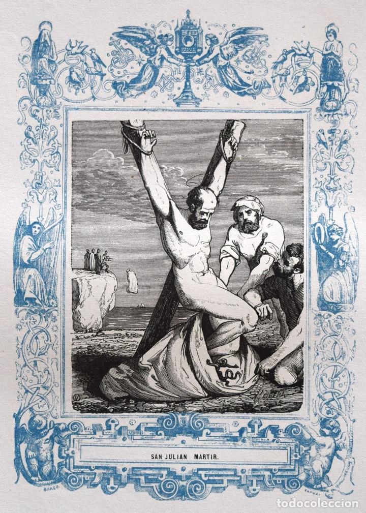 SAN JULIÁN, MARTIR - GRABADO DÉCADAS 1850-1860 - BUEN ESTADO (Arte - Arte Religioso - Grabados)