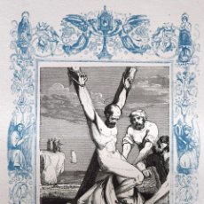 Arte: SAN JULIÁN, MARTIR - GRABADO DÉCADAS 1850-1860 - BUEN ESTADO. Lote 172249125