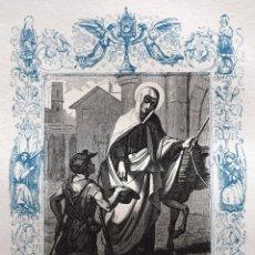 Arte: SANTA FRANCISCA, VIUDA - GRABADO DÉCADAS 1850-1860 - BUEN ESTADO. Lote 172249168
