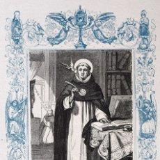 Arte: SANTO TOMÁS DE AQUINO, CONFESOR Y DOCTOR - GRABADO DÉCADAS 1850-1860 - BUEN ESTADO. Lote 172284908