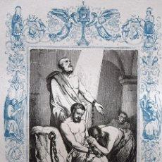 Arte: SAN EUSEBIO Y COMPAÑEROS MÁRTIRES - GRABADO DÉCADAS 1850-1860 - BUEN ESTADO. Lote 172284987