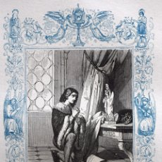 Arte: SAN CASIMIRO, REY - GRABADO DÉCADAS 1850-1860 - BUEN ESTADO. Lote 172285040