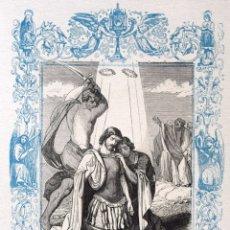 Arte: SAN EMETERIO Y SAN CELEDONIO, MÁRTIRES - GRABADO DÉCADAS 1850-1860 - BUEN ESTADO. Lote 172285102