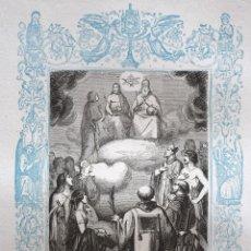Arte: LA FIESTA DE TODOS LOS SANTOS - GRABADO DÉCADAS 1850-1860 - BUEN ESTADO. Lote 172285383