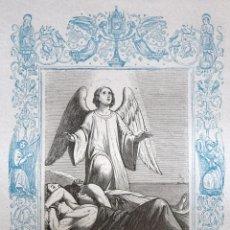 Arte: SAN LEONCIO Y COMPAÑEROS MÁRTIRES - GRABADO DÉCADAS 1850-1860 - BUEN ESTADO. Lote 172285533